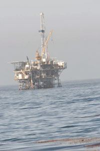 Oil Platform off Coal Oil Point